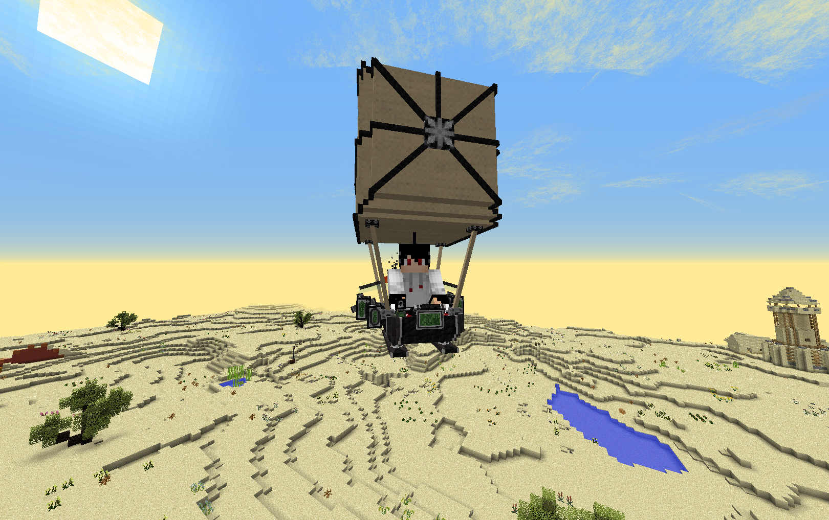 airship in the desert